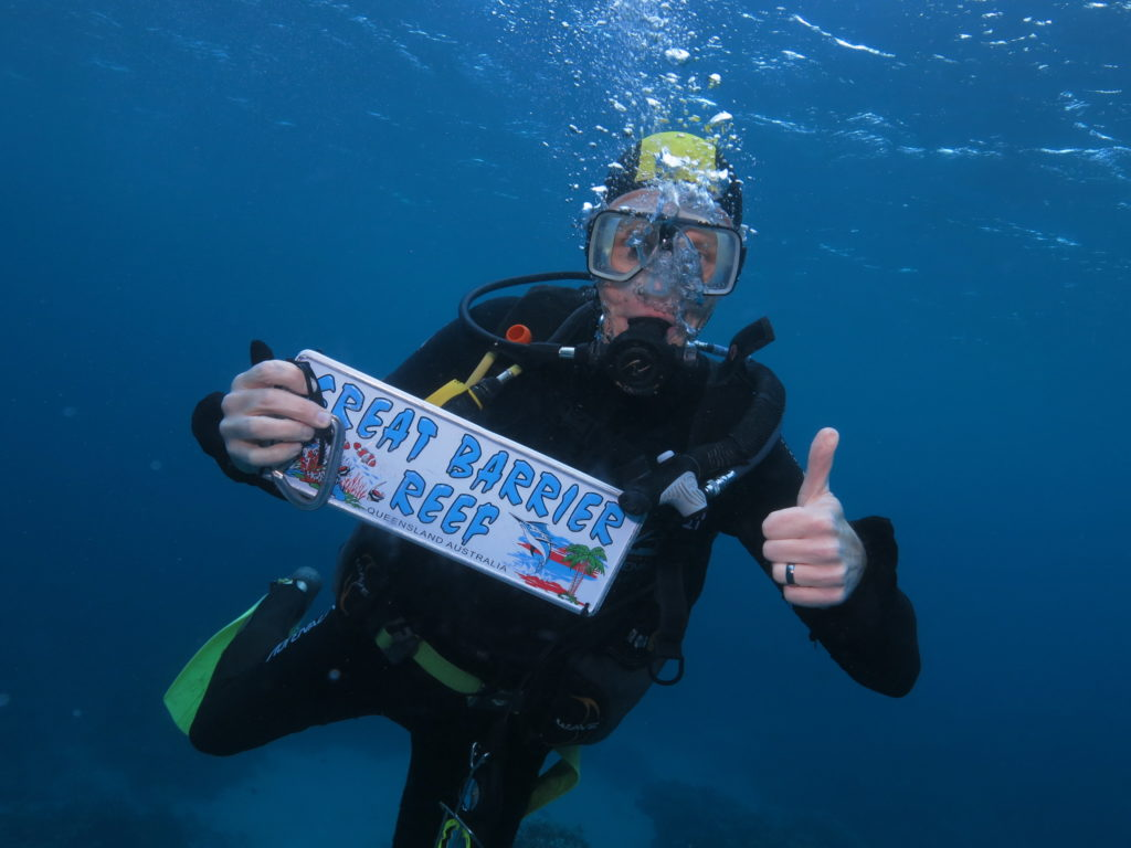 Dental Marketing Specialist, Michael Fleming, Scuba Diving at the Great Barrier Reef